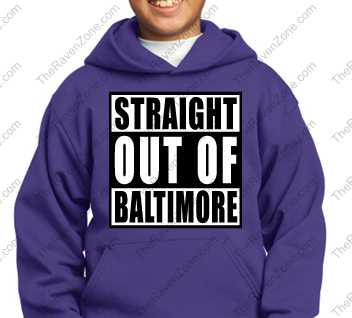 Straight Out Of Baltimore Kids Purple Hoody