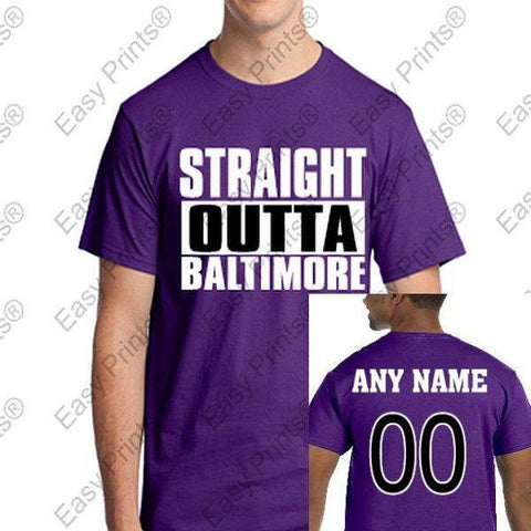 Custom Straight Outta Baltimore Maryland Purple Gear