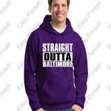 Straight Outta Baltimore Maryland Purple Gear