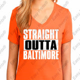 Straight Outta Baltimore Maryland Orange Gear