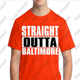 Custom Straight Outta Baltimore Maryland Orange Gear