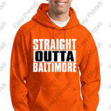 Custom Straight Outta Baltimore Maryland Crab Hooded Sweatshirt Many Colors