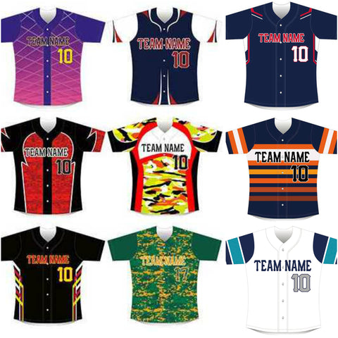 Sublimated Baseball/Softball Jersey #12
