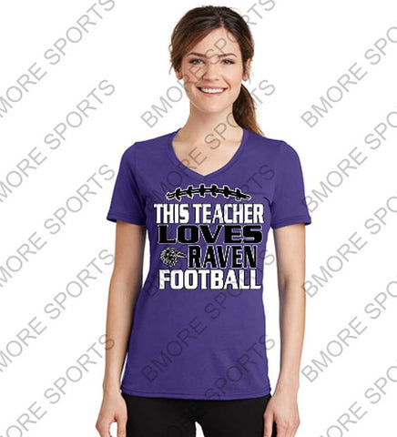 This Teacher Loves Ravens Football Ladies or Mens Gear