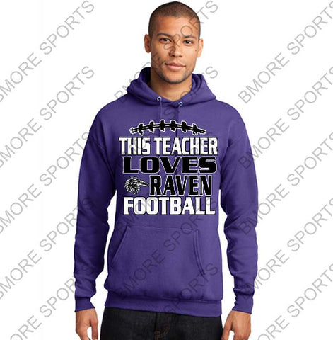 This Teacher Loves Ravens Football Hoodie