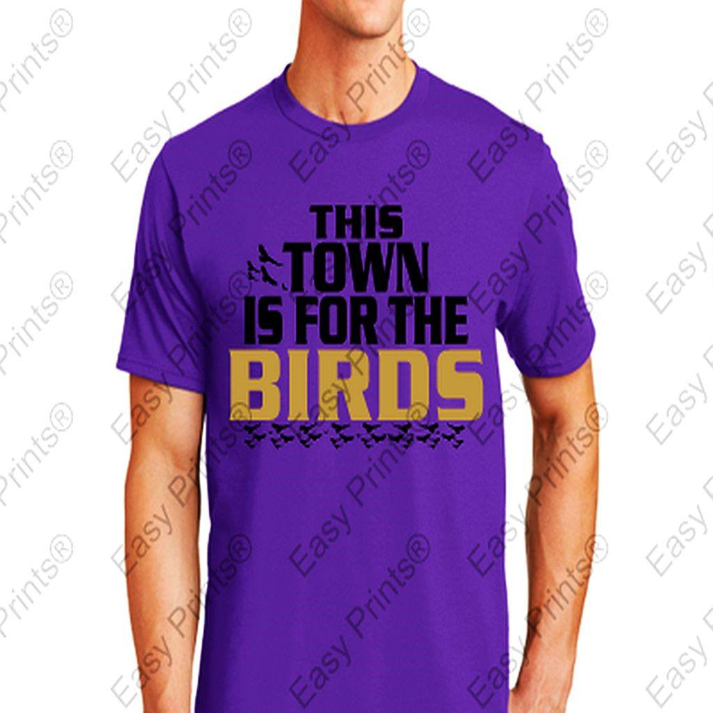 This Town is for The Birds Ravens Purple T-Shirt