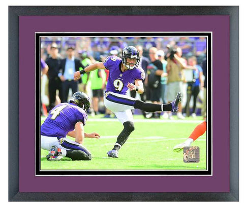 Justin Tucker Action Photo Framed 11X14