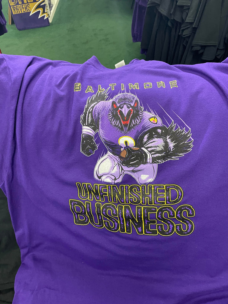 Ravens Unfinished Business Adult Tshirt