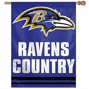 Baltimore Ravens 27 x 37 Country Flag