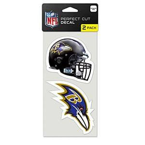 Baltimore Ravens 2-Pack Color Decal Set