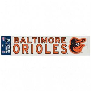"Baltimore Orioles 4"" x 17"" Perfect Cut Color Decal"