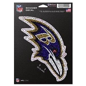 "Baltimore Ravens 5"" x 7"" Shimmer Decal"