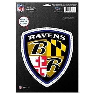 "Baltimore Ravens 8"" Die-Cut Logo Shield Magnet"