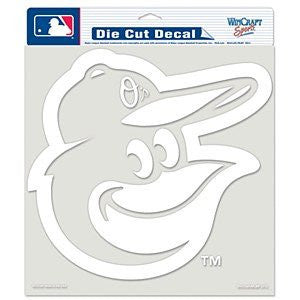"Baltimore Orioles 8"" x 8"" White Decal"