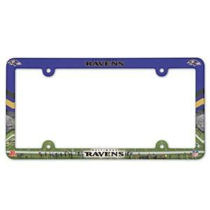 Baltimore Ravens Color Plastic License Plate Frame