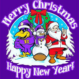 Merry Christmas Happy New Year Ravens Tshirt