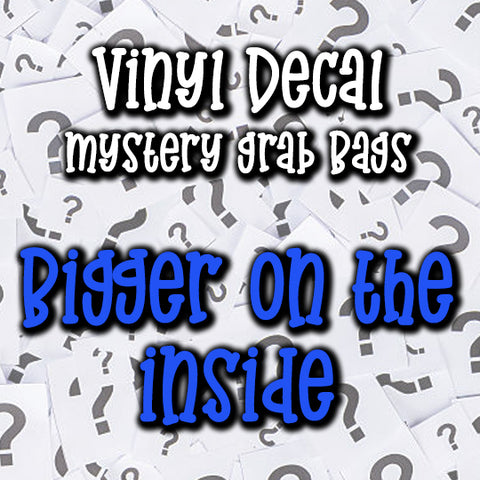 Bigger On The Inside Vinyl Decal Grab Bag, over 50% off retail
