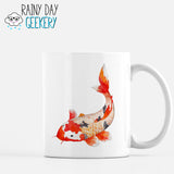 Bright Orange Koi Fish - 11 oz White Mug