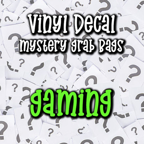 Gaming Vinyl Decal Grab Bag, over 50% off retail