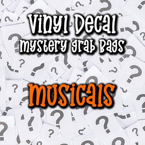 Musicals - Vinyl Decal Grab Bag, over 50% off retail