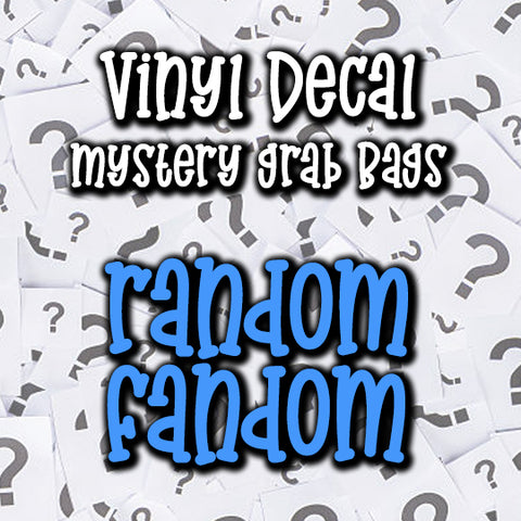 Random Fandom Vinyl Decal Grab Bag, over 50% off retail
