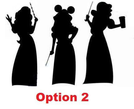 Triplet Fandom Party - Triplet Silhouettes with Wands - Vinyl Decal