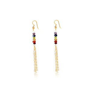 7 Chakras Chandelier Earrings