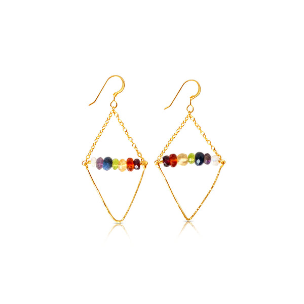 7 Chakras Shiva & Shakti Earrings