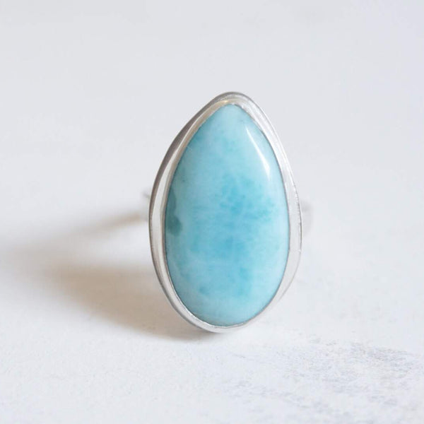 Yvonne Dao Atlantis Larimar Statement Ring
