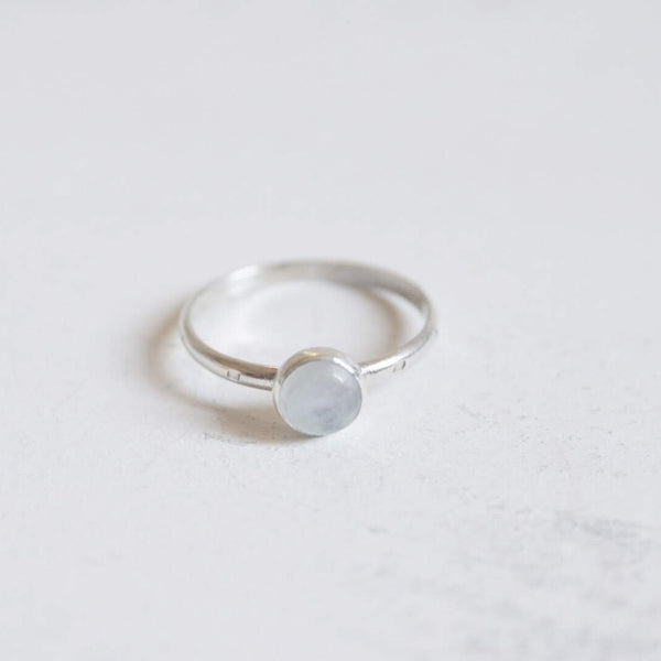 Yvonne Dao Dainty Rainbow Moonstone Stacker Ring