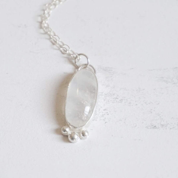 Yvonne Dao Rainbow Moonstone Long Necklace