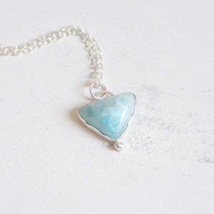 Yvonne Dao Atlantis Triangle Larimar Necklace