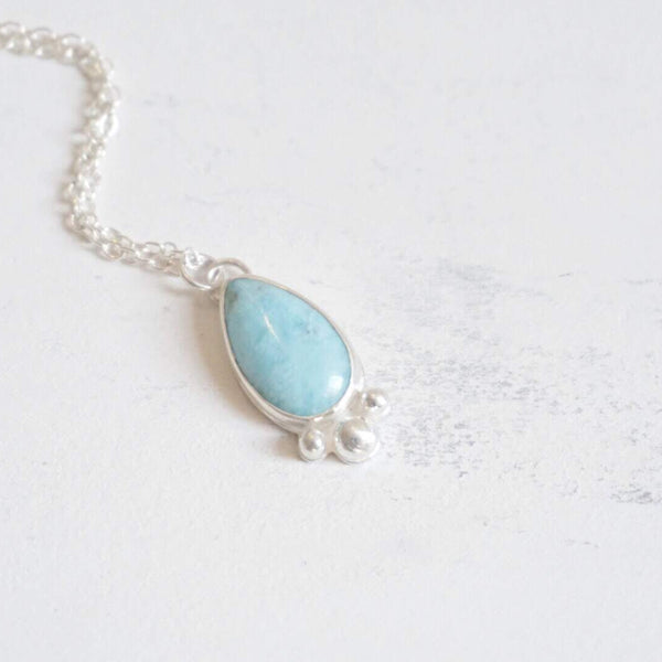 Yvonne Dao Atlantis Fancy Larimar Necklace