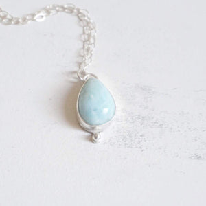 Yvonne Dao Atlantis Larimar Necklace