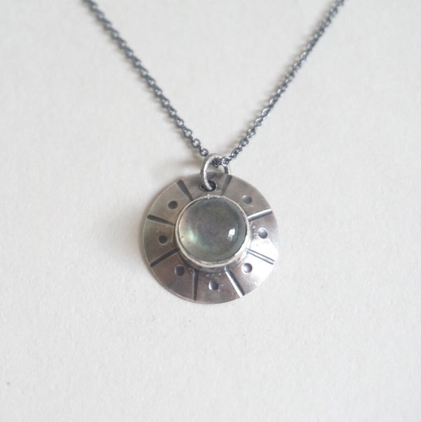 Flying Saucer Dainty Necklace