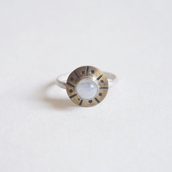 Yvonne Dao Flying Saucer Moonstone RIng