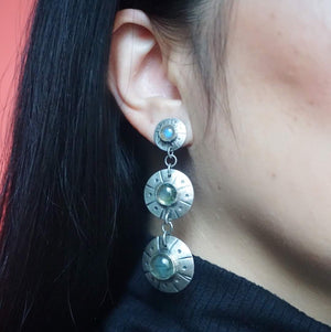 Flying Saucer Statement Earrings