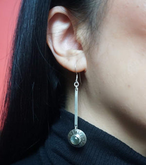 Flying Saucer Minimal Earrings