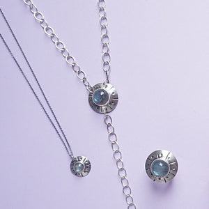 Flying Saucer Y Necklace