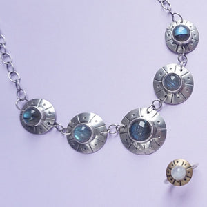 Flying Saucer Statement Necklace