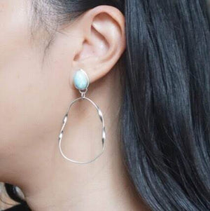 Yvonne Dao Atlantis Larimar Mobius Earrings