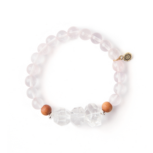 Heart Centered Signature Stretch Mala Bracelet