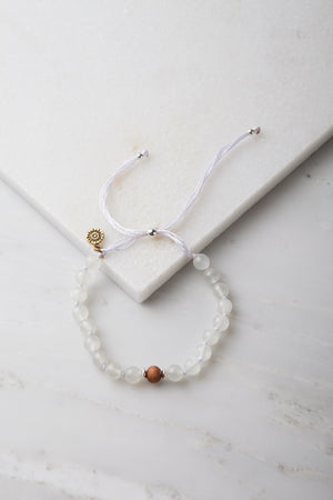 Moon Goddess Signature Adjustable Mala Bracelet