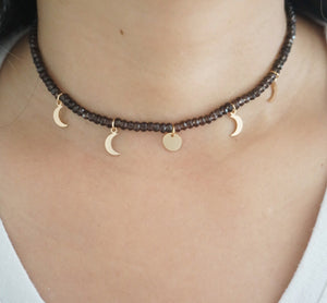 Smoky Quartz Moon Phase Choker