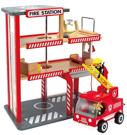 Fire Station Wooden Toy
