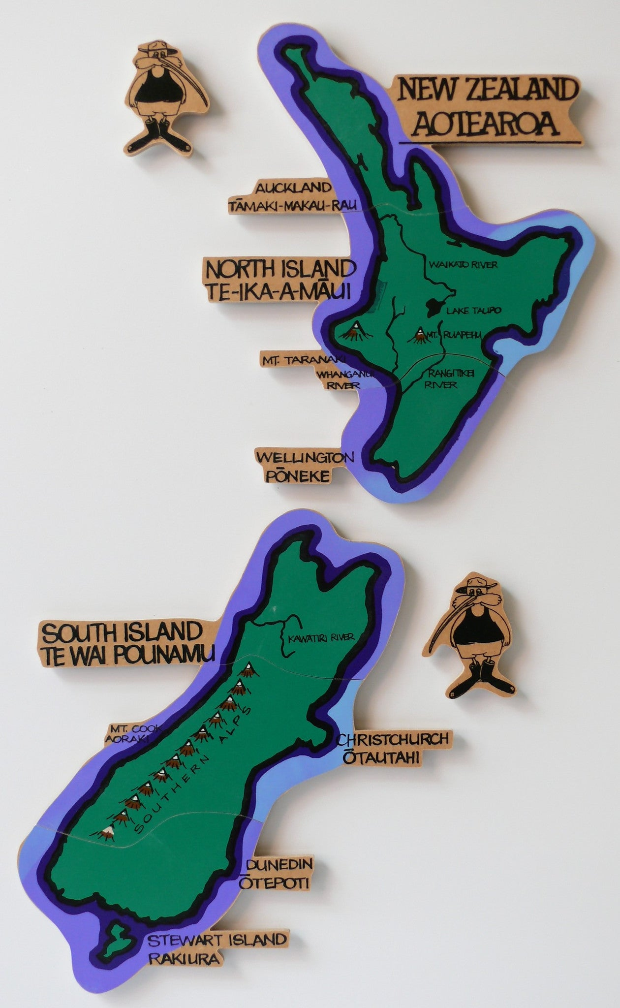Map Aotearoa New Zealand Magnetic Amezi Co Nz Baby Products