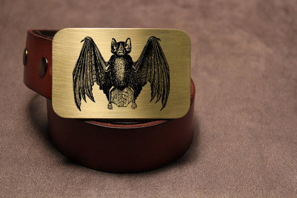 Vampire Bat Belt Buckle-Metal Some Art