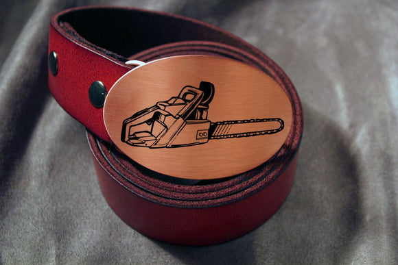 Chainsaw -LUMBERJACK- Belt Buckle-Metal Some Art