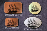 Clipper Ship Belt Buckle-Metal Some Art