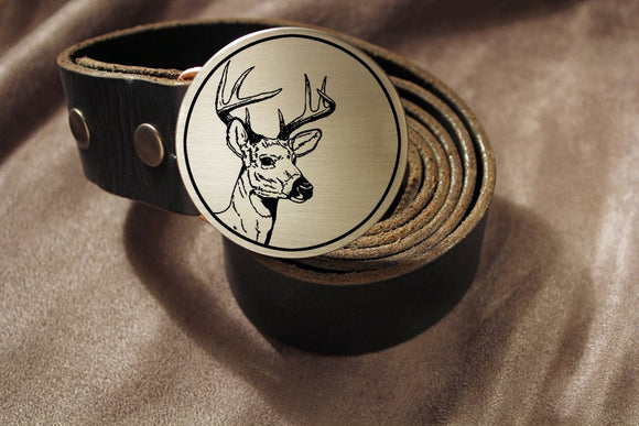 Deer Hunter Belt Buckle-Metal Some Art